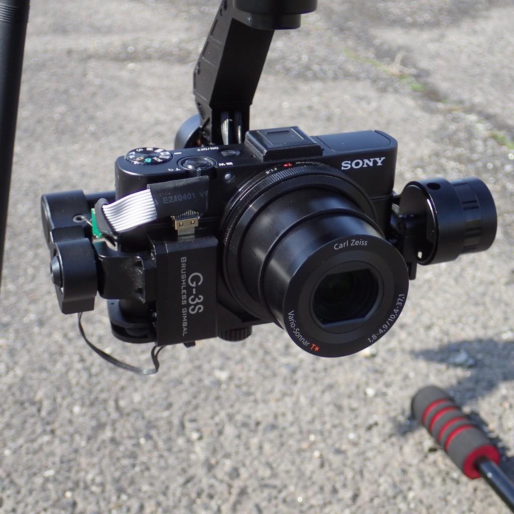 ドローン撮影 にはSONY RX100m4 を搭載